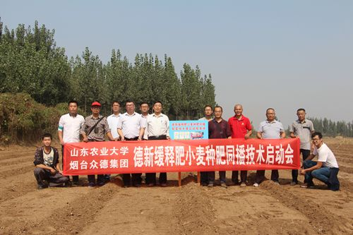 德新缓释肥小麦种肥同播技术项目全面启动